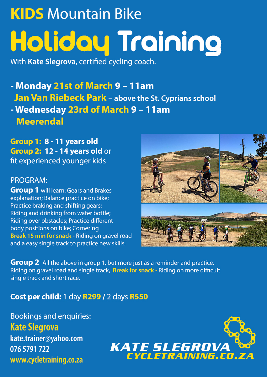 Kids MTB Holiday training 2016