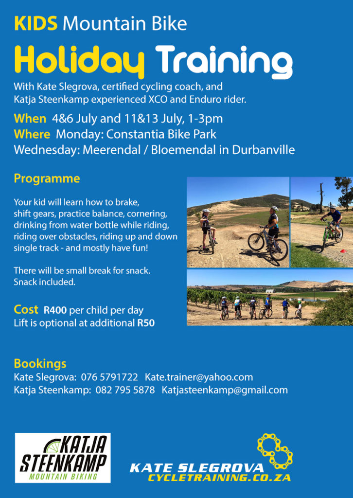 Kids MTB Holiday training July 2016